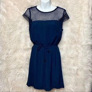 ZARA Navy Blue Dress